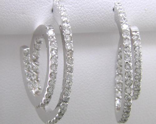 Custom design diamond cork screw hoop earrings