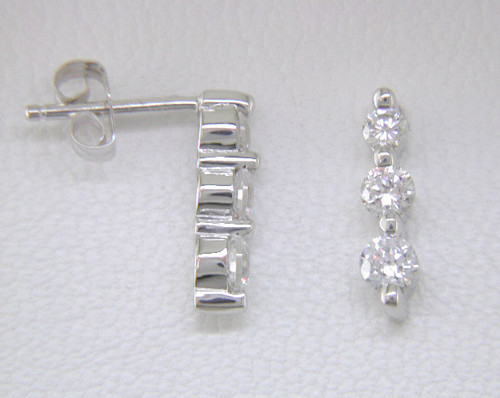 "Custom design ""Past, Present, Future"" diamond drop earrings"