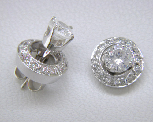 Custom design diamond jackets to fit your stud earrings