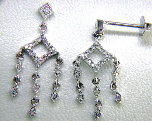 Custom design diamond chandelier drop dangle earrings