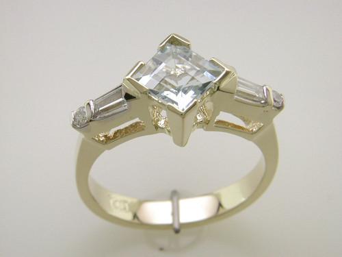 Custom design PC, TB, RB diamond engagement ring