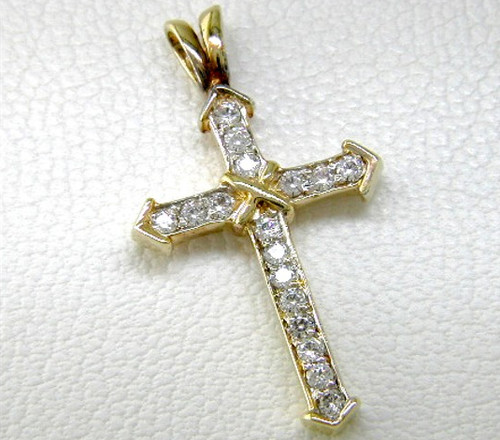 Custom design diamond cross pendant