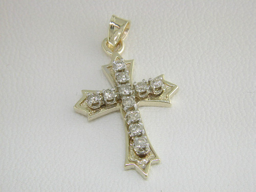 Custom design diamond cross pendant #2