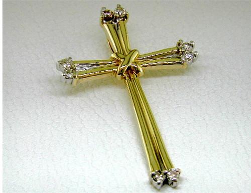 Custom design diamond cross pendant #4