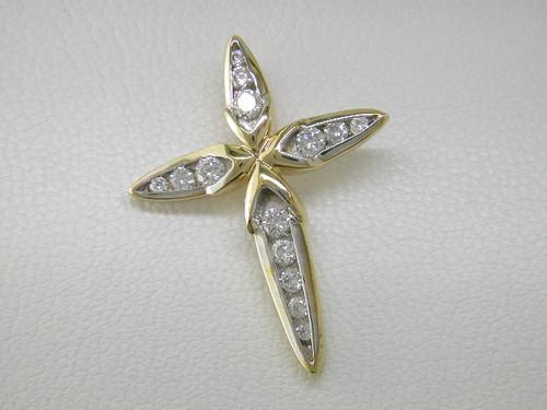 Custom design diamond cross pendant
