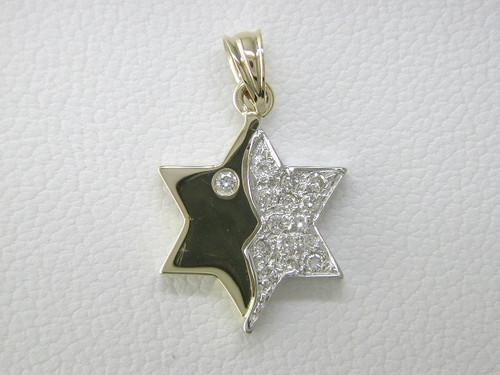 Custom design diamond/black onyx Star of David pendant
