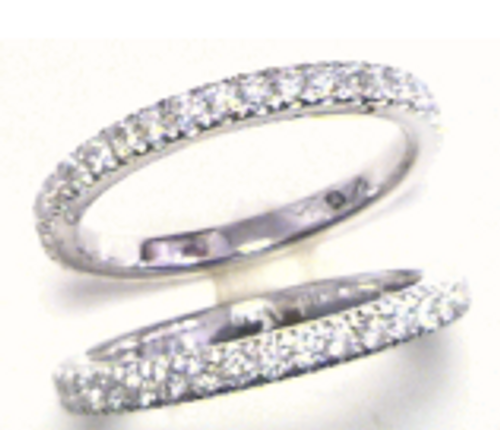 Custom design french set diamond eternity band(s)