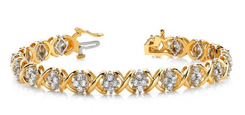 Cluster diamond bracelet