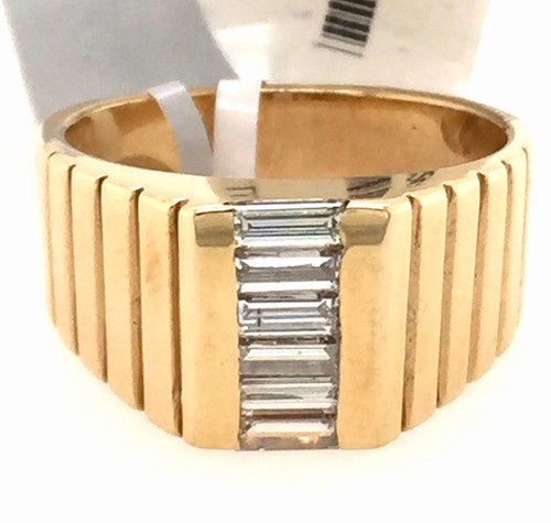 14kyg Gents Baguette diamond ring