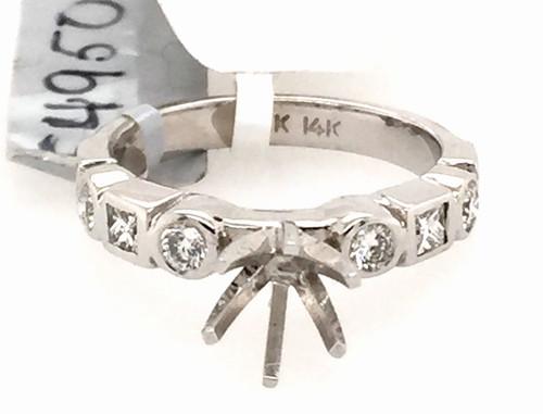 14kwg bezel set pc and rb diamond semi mtg