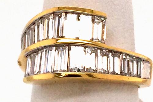 18kyg split shank baguette diamond band