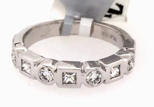 14kwg bezel set pc and rb diamond band