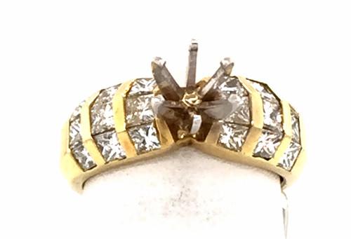 18kyg channel set princess cut diamond semi mtg