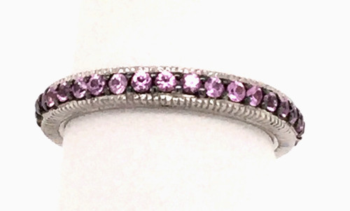 JR Sterling pink sapphire band
