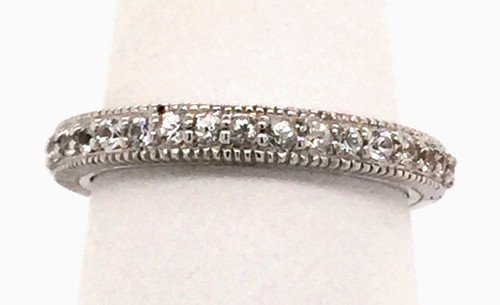 JR Sterling band with white sapphires