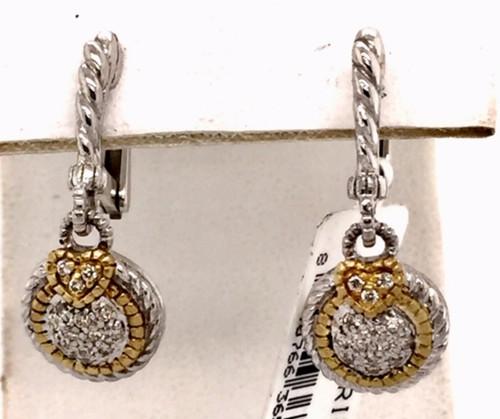 JR SS/18ky earrings w/white sapphires