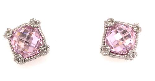 JR SS pink crystal studs