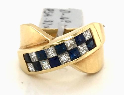 18kyg invisible set sapphire and diamond band
