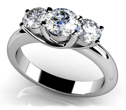 3 stone trellis style ring