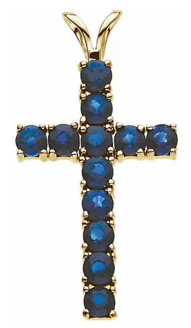 14k gemstone cross mounting