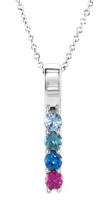 14k family pendant mounting for 4 stones