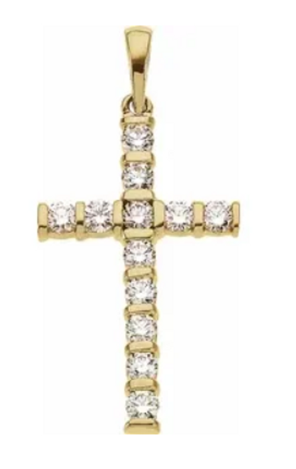 14kyg diamond cross