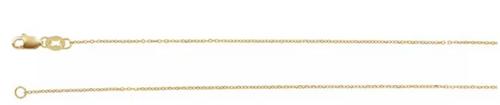 "14kyg 1.1mm diamond cut cable chain 18"""