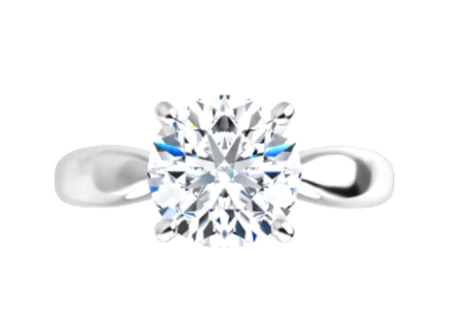 14k pinched shank diamond solitaire mounting only