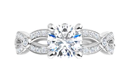 14k bezel/channel set diamond infinity semi mounting only