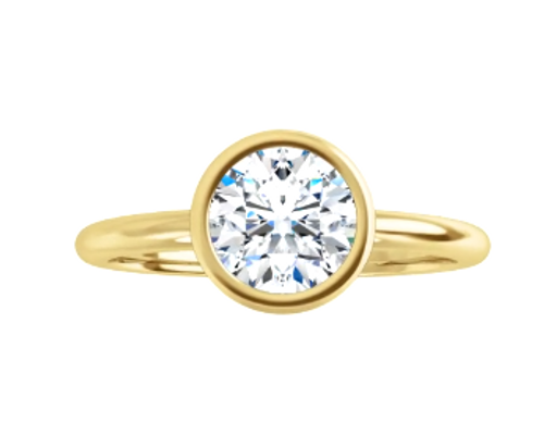 14kyg bezel solitaire mounting only