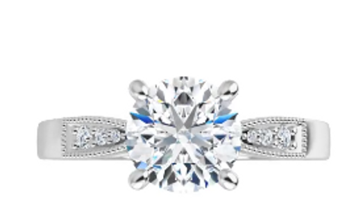 14k (6) diamond accented semi mounting only