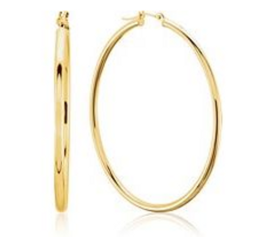 14k hoop earrings 34x2mm