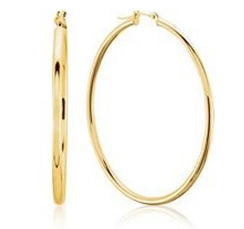 14k hoop earrings 34x2mm