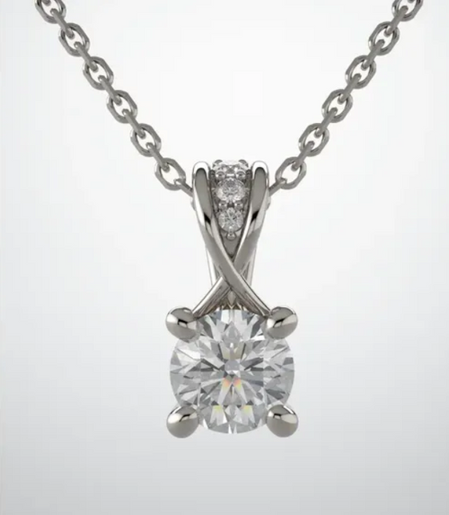 14kwg diamond accented pendant mounting only