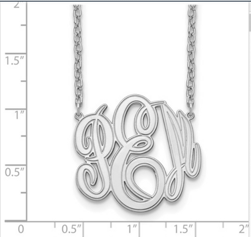 10 Karat Etched Monogram Necklace