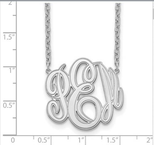 10 Karat Etched Monogram Necklace