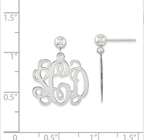 monogram style earrings