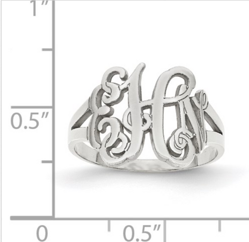 monogram style ring