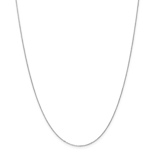 """14kwg solid diamond cut  .8mm cable chain  18"""""""