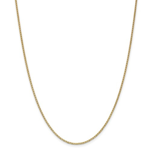 """14kyg solid flat 1.5mm anchor chain  in diameter 18"""""""