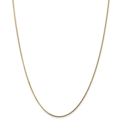 14kyg solid 1.3mm curb pendant chain  18""