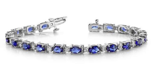 Oval sapphire bracelet