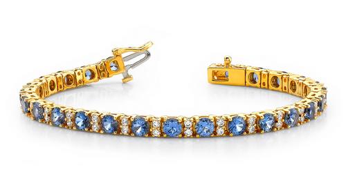 3 Round gemstone bracelet