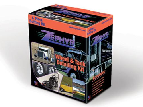 Zephyr 6 Piece Wheel & Tank Detailing Kit