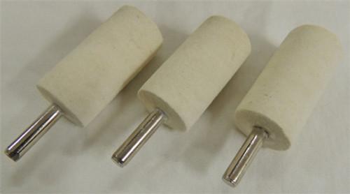 "Zephyr 1"" x 2"" Felt Cylinder for 1/4"" - 3/8"" Chuck Pack of 3"