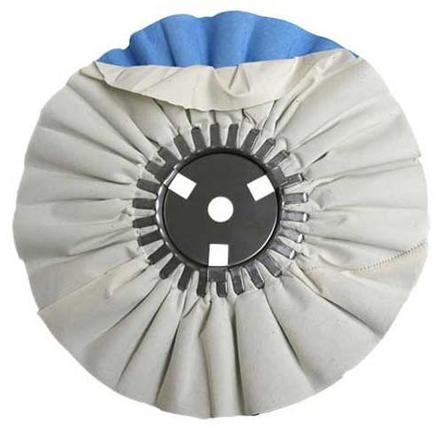 Zephyr White/Blue Finishing Airway Buffing Wheel - 10 inch