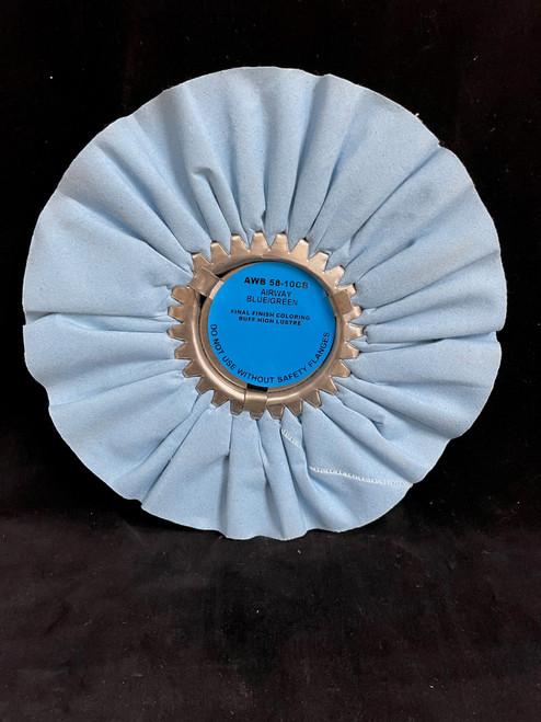 Zephyr Blue/Green Airway Buffing Wheel - 10 inch