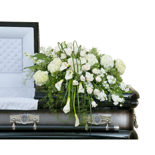 Elegant Love Casket Spray - Half