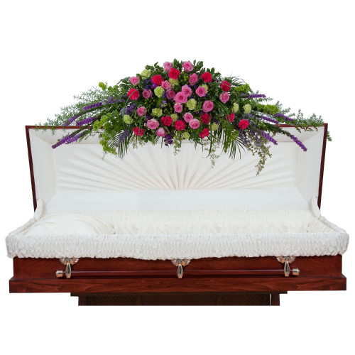 Forever Cherished Full Casket Spray