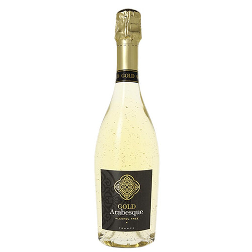 Gold Arabesque  Luxury Sparkling Non-Alcoholic Wine with 24K Gold